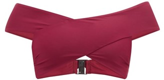 Casa Raki - Paula Off-the-shoulder Crossover Bikini Top - Burgundy