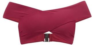 Casa Raki - Paula Off-the-shoulder Crossover Bikini Top - Womens - Burgundy