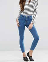 Asos Ridley High Waist Skinny Jeans In Pretty Mid Wash