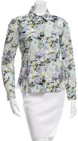 Nina Ricci Lace Accented Button-Up Top