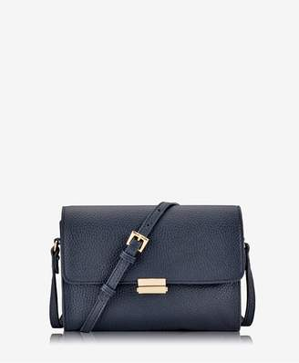 GiGi New York Catherine Crossbody In Navy Pebble Grain Leather