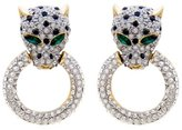 Butler & Wilson Butler and Wilson Leopard Head and Ring Earrings