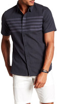 Burnside Short Sleeve Striped Print Woven Regular Fit Shirt
