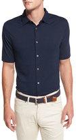 Peter Millar Collection Perfect Piqué Short-Sleeve Shirt, Blue