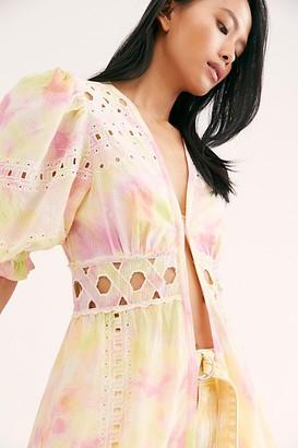 NFC Sabrina Eyelet Tie Dye Kimono
