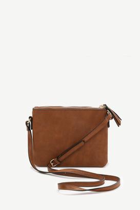 Ardene Faux Leather Crossbody Handbag