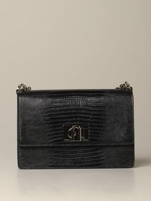 Furla Crossbody Bags Small Bag In Crocodile Print Leather