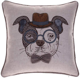 14 Karat Home, Inc. Distinguished Dog Pillow, Oscar Sanders, 18x18