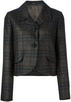 Maison Margiela checked cropped jacket - women - Cotton/Polyamide/Acetate/Wool - 40