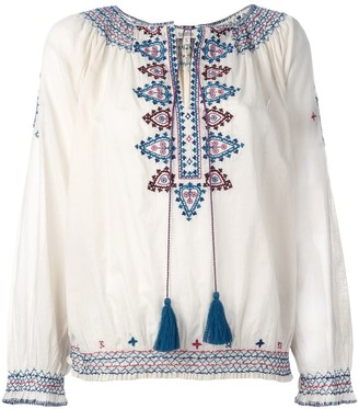 Talitha Collection Embroidered Figures Blouse