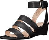 Nine West Women's Later Leather Wedge Sandal