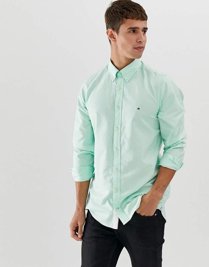 af0331416 Tommy Hilfiger Green Fitted Tops For Men - ShopStyle Australia