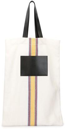 Jil Sander Large Stripe-Detail Tote Bag
