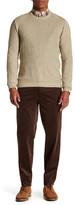 Louis Raphael Wale Cord Slim Fit Flat Front Trouser