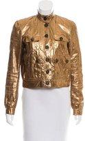 Mulberry Snakeskin Leather Jacket