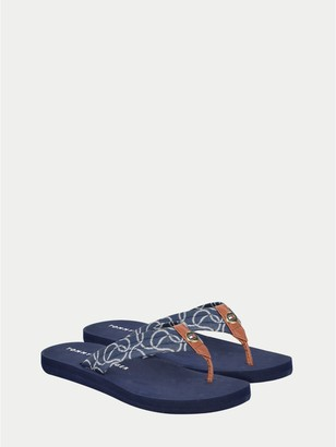 Tommy Hilfiger Nautical Print Flip Flop