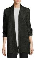 Eileen Fisher Ottoman-Stitched Kimono Cardigan, Black, Plus Size