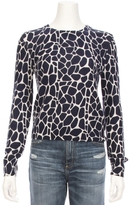 Equipment Shirley Crew Giraffe Print Sweater