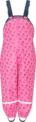 Playshoes Girl's Regenlatzhose mit Herzchen Rain Trousers