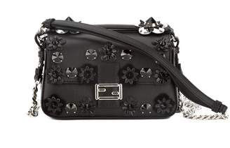 Fendi Black Leather Double Micro Baguette Bag (New with Tags)