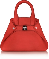 Akris Scarlet Leather Micro Ai Crossbody Bag