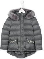 Miss Blumarine padded embellished pocket coat