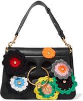 J.W.Anderson Pierce Medium Embellished Leather Shoulder Bag - Black