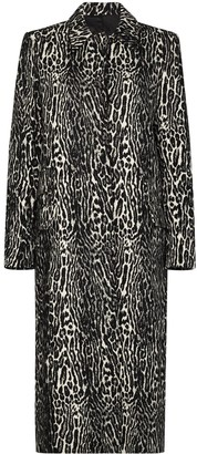 Commission Leopard-Print Jacquard Coat