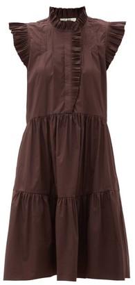 Sea Karla Ruffled Cotton-blend Dress - Burgundy