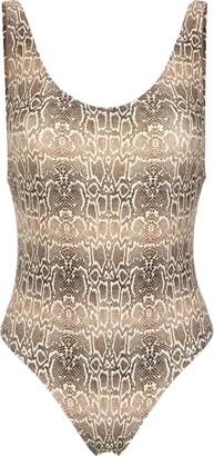 AMIR SLAMA Snake Print Swimsuit