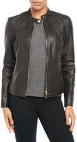 Ivanka Trump Leatherette Weave Moto Jacket