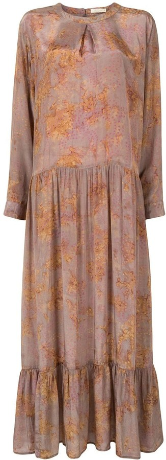Mes Demoiselles Dropped-Waist Loosely Tiered Dress