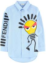 Fendi Graphic oxford shirt