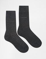 Calvin Klein Two Pack Stripe Socks