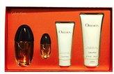 Calvin Klein Obsession Gift Set of 4 - Eau de Parfum Spray 3.4 Oz + Eau de Parfum Spray 0.5 Oz + Luxurious Shower Gel 3.4 Oz + Silkening Body Lotion 6.7 Oz