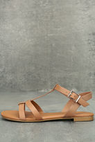Bamboo Nia Tan Flat Sandals