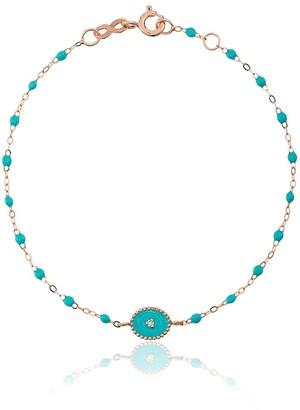 Gigi Clozeau 18kt rose gold Classic Gigi North Star diamond and turquoise beaded bracelet