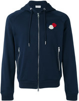 Moncler logo plaque hoodie - men - Cotton - L