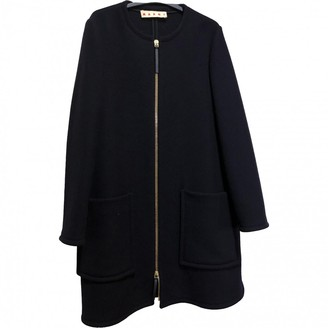 Marni Navy Wool Coat for Women