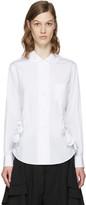 Comme des Garcons White Ruffles Shirt