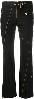 Versace Zipped Flare Cropped Trousers