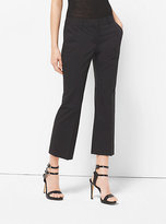 Michael Kors Cropped Cotton-Poplin Trousers