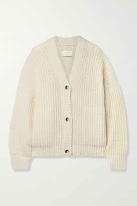 LAUREN MANOOGIAN Grandma Ribbed Pima Cotton, Alpaca And Wool-blend Cardigan - White