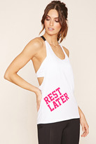 Forever 21 FOREVER 21+ Active Rest Later Graphic Tank