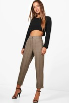 boohoo Petite Rachel Checked Tapered Trouser