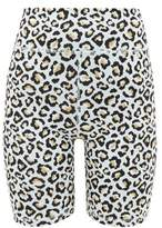 The Upside Ice Leopard-jacquard Jersey Shorts - Womens - Leopard