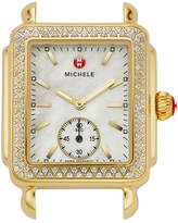 Michele 16mm Deco Diamond Watch Head, Gold