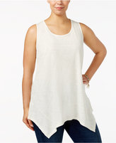 Style&Co. Style & Co Plus Size Handerkerchief-Hem Tank Top, Only at Macy's