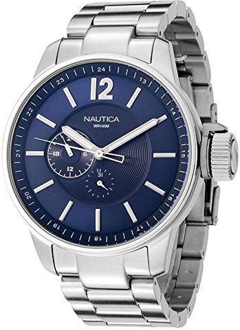 Nautica (ノーティカ) - Nautica n17516gメンズブルーダイヤルステンレススチール時計