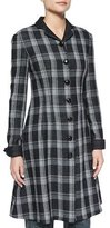 Proenza Schouler Woven Plaid Flared Shirtdress